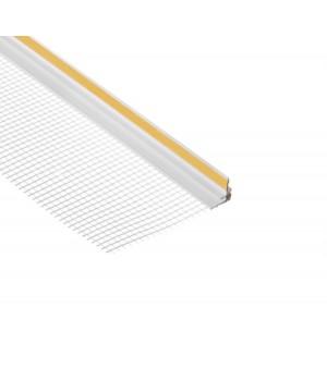 Профиль примыкающий с сеткой самоклеящийся 6мм, 2,4м (25шт/уп)