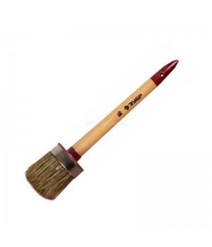Кисть круглая 65 мм №20 светлая щетина, деревяннаяручка ЗУБР УНИВЕРСАЛ-МАСТЕР  код 01501-65