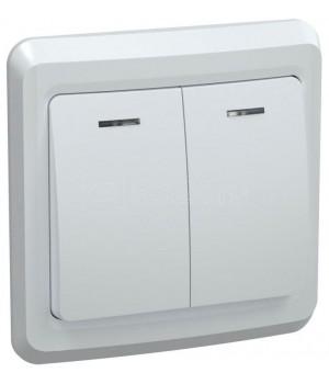 Выключатель  2- кл.,бел, ВЕГА ИЕК 10А ВС 10-2-0ВБ