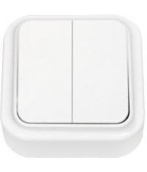 Выключатель 2 ОП  белая  ПРАЛЕСКА  А56-134   210106