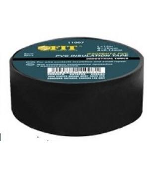 Изолента ПВХ черная 19мм*0,13мм*10м FIT   11008