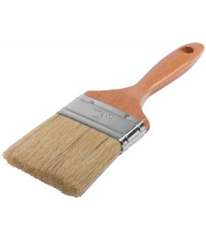 """Кисть плоская 100 мм №4 FIT """"Стандарт-Плюс"""" натуральная, деревянная ручка 01048"""
