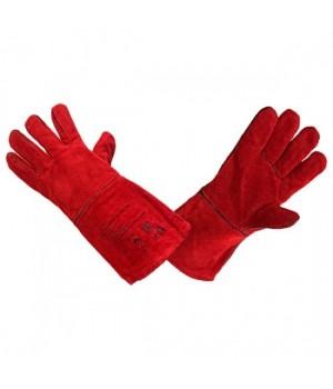 Краги тип ТРЕК с кевлавораой нитью (красные)