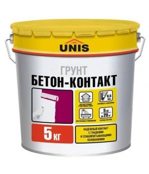 Грунтовка БЕТОН-КОНТАКТ 5 кг ЮНИС