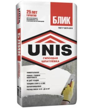 Шпатлевка толстослойная гипсовая «Юнис-БЛИК» 18 кг