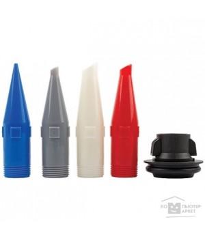 Сопла сменные пластиковые фигурные для пистолетов для герметика закрытого типа (набор 4шт) FIT 14252
