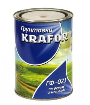 Грунт ГФ-021 серый 0,8 кг KRAFOR (14)
