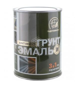 Грунт-эмаль по ржавчине коричневый 1,9 кг. Радуга