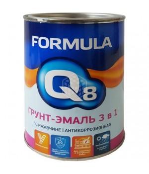 Грунт-эмаль по ржавчине красно-коричневая 1,9 кг. FORMULA Q8